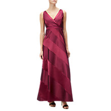 Buy Adrianna Papell Petite Ball Gown, Cranberry Online at johnlewis.com