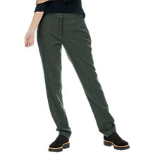 Buy Brora Wool Tweed Trousers, Olive Online at johnlewis.com