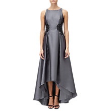 Buy Adrianna Papell Lace Mikado Dress, Gunmetal Online at johnlewis.com