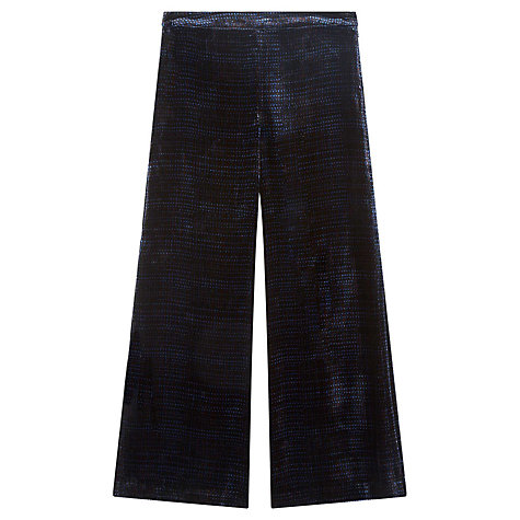 Buy Brora Printed Silk Velvet Trousers, Nightshade Online at johnlewis.com