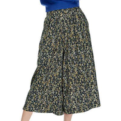 Product photo of Brora painterly floral print culottes midnight ochre