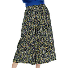 Buy Brora Painterly Floral Print Culottes, Midnight/Ochre Online at johnlewis.com