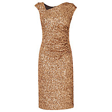 Buy L.K. Bennett Jazz Sequin Dress, Gold Online at johnlewis.com