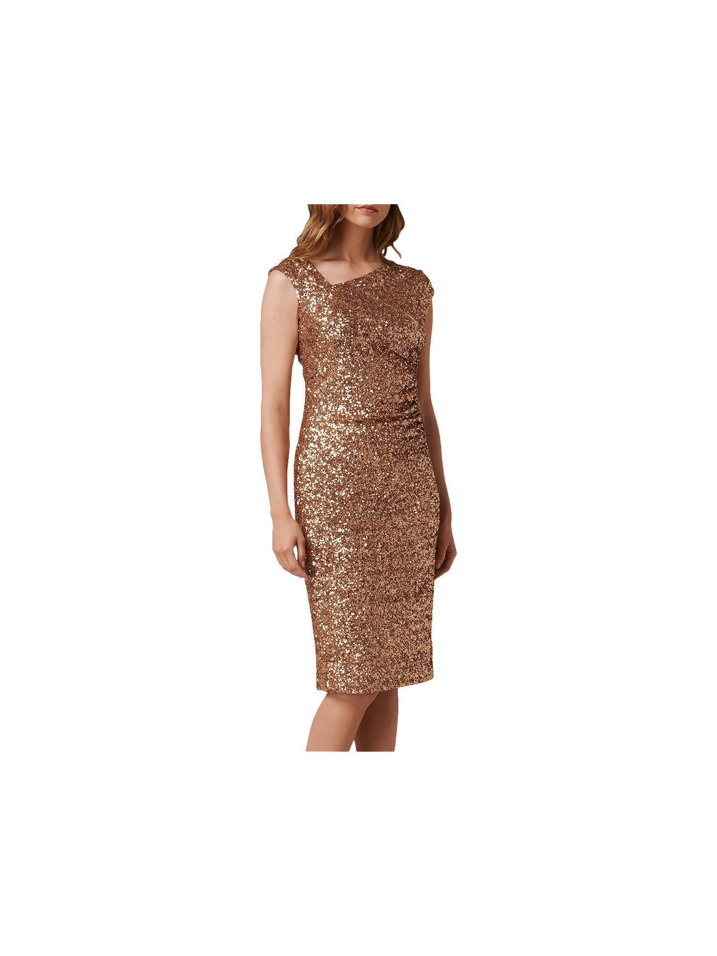 73ab9e0a ... Buy L.K. Bennett Jazz Sequin Dress, Gold, 6 Online at johnlewis.com