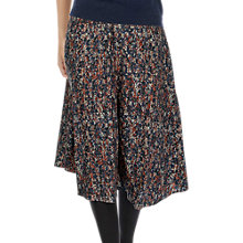 Buy Brora Painterly Floral Print Skirt, Auburn/Coal Online at johnlewis.com