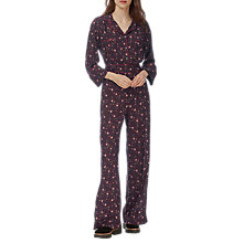Buy Brora Lotus Flower Jumpsuit, Bordeaux/Flame Online at johnlewis.com