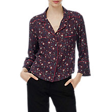 Buy Brora Lotus Flower Blouse, Bordeaux/Flame Online at johnlewis.com