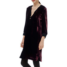 Buy Brora Silk Blend Velvet Tunic Dress, Port Online at johnlewis.com