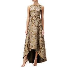 Buy Adrianna Papell High-Low Floral Jacquard Ball Gown, Antique Gold Online at johnlewis.com