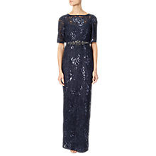 Buy Adrianna Papell Sequin Embroidered Dress, Midnight Online at johnlewis.com