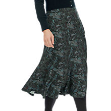 Buy Brora Liberty Print Jersey Skirt, Coal Swirl Online at johnlewis.com