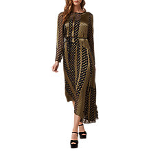 Buy L.K. Bennett Nichol Spot Dress, Black/Gold Online at johnlewis.com