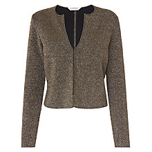 Buy L.K. Bennett Sparkle Cardigan, Black/Gold Online at johnlewis.com