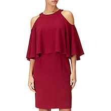 Buy Adrianna Papell Textured Crop Cold Shoulder Dress Petite, Cranberry Online at johnlewis.com