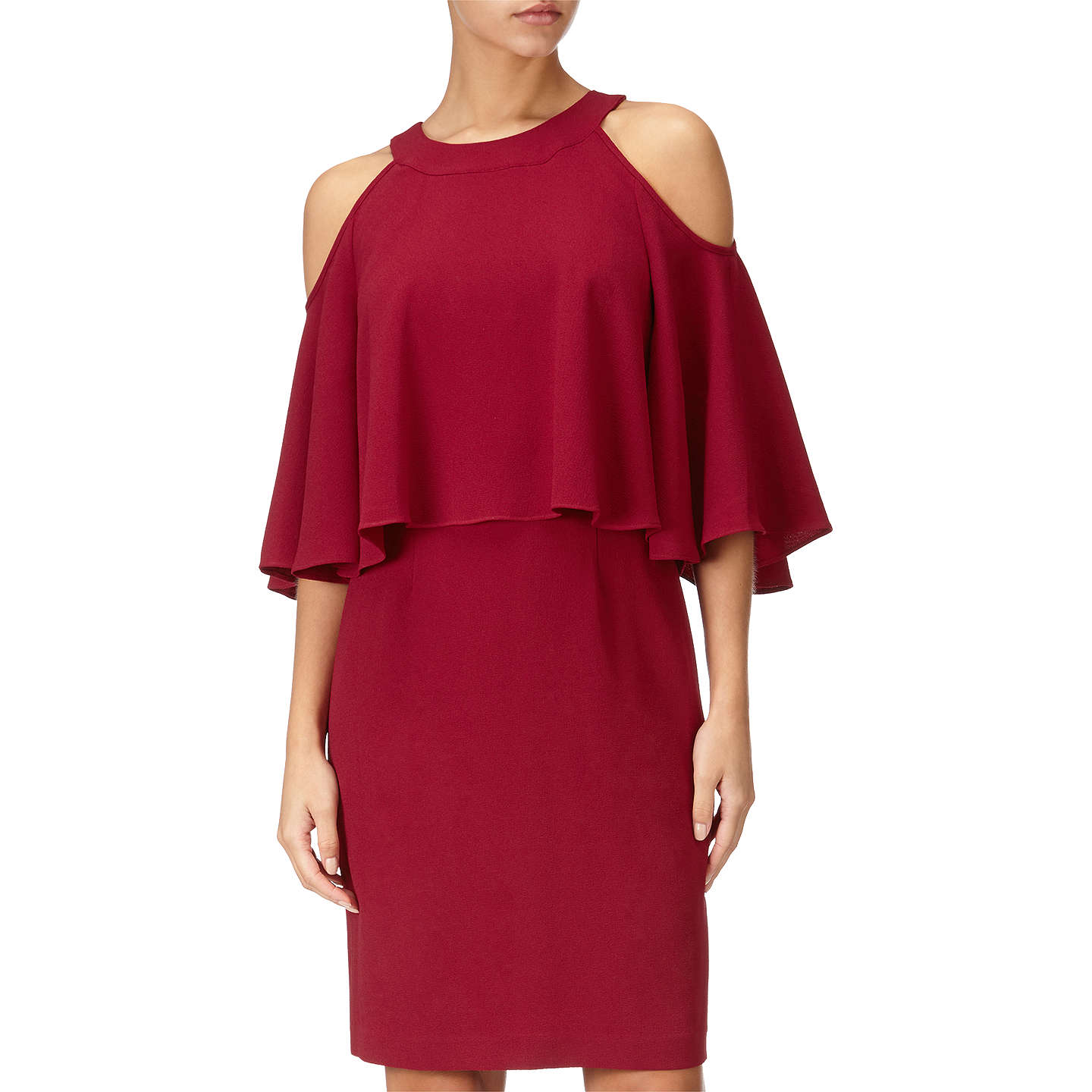 Adrianna Papell Plus Size Textured Crop Cold Shoulder Dress At John