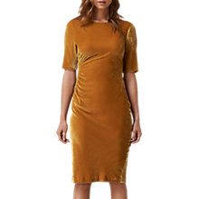 Buy L.K. Bennett Kara Velvet Dress, Citrine Yellow Online at johnlewis.com