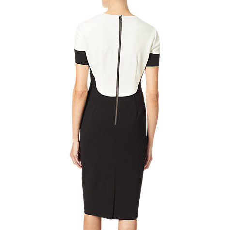 Buy Adrianna Papell Stretch Crepe Sheath Dress, Black/Ivory Online at johnlewis.com