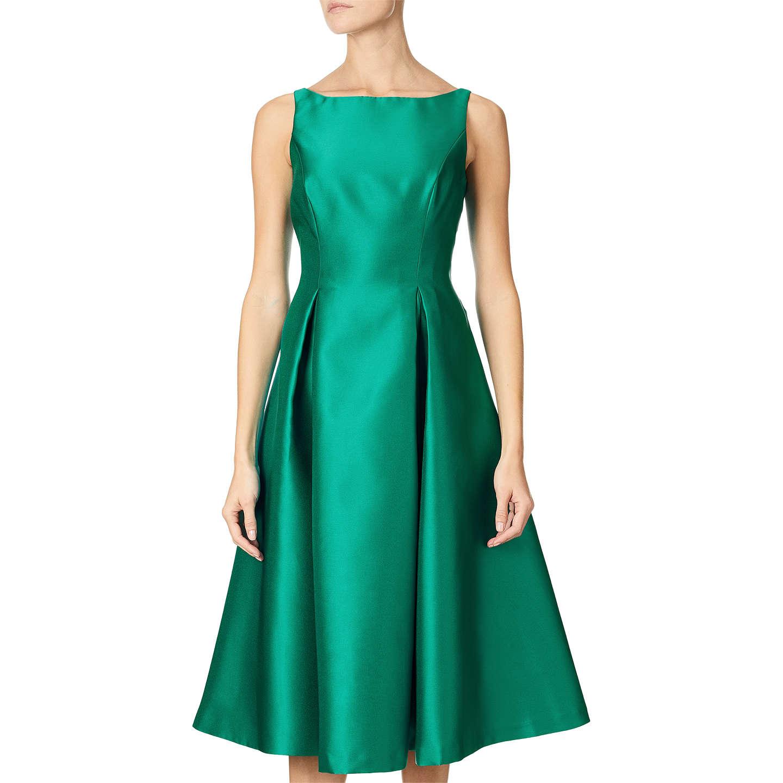 Adrianna Papell Sleeveless Tea Length Dress, Vivid Malachite at John ...
