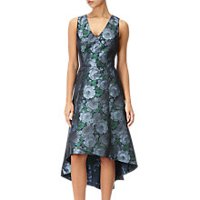 Buy Adrianna Papell High-Low Floral Dress, Blue/Navy Online at johnlewis.com