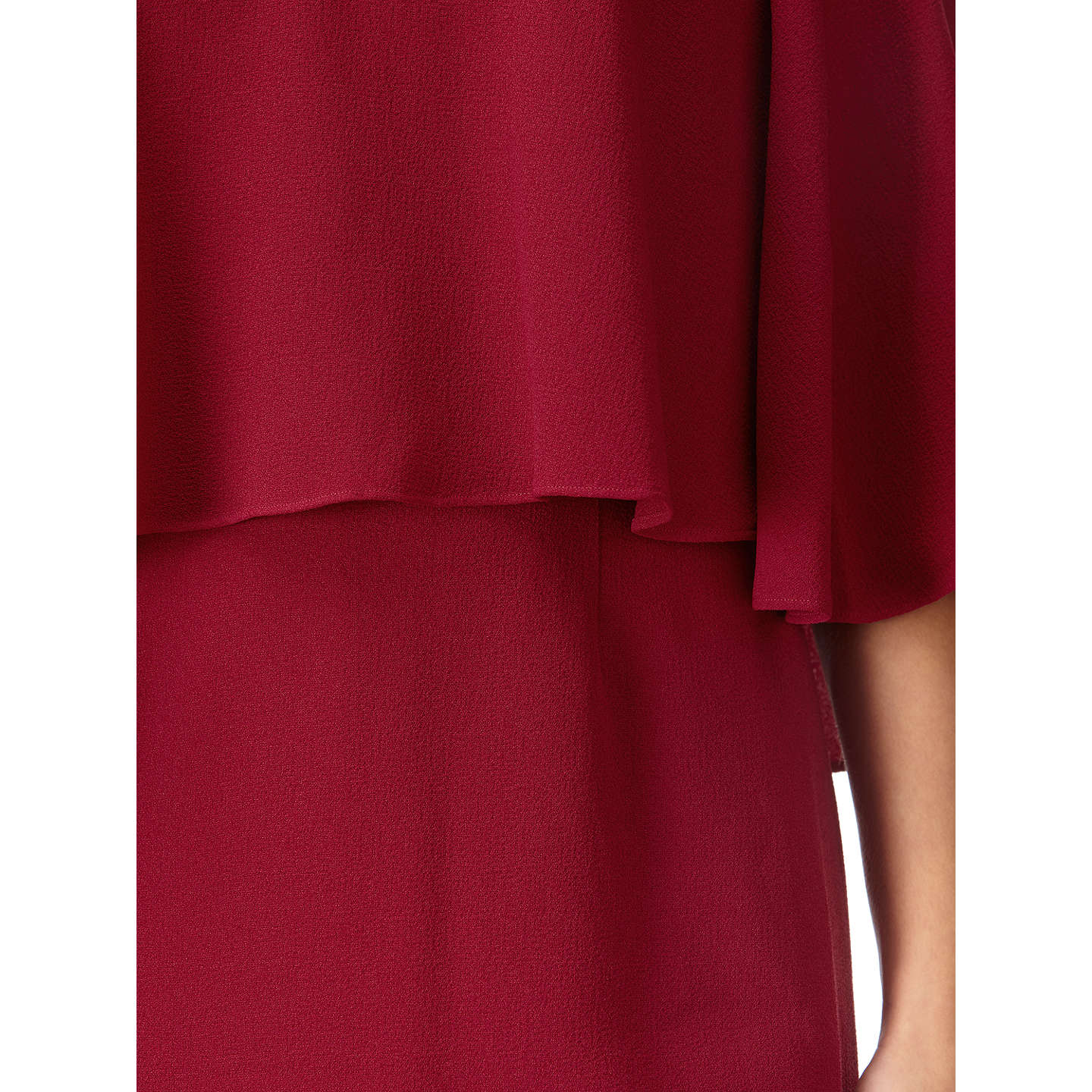 BuyAdrianna Papell Cold Shoulder Sheath Dress, Cranberry, 10 Online at johnlewis.com