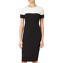 Buy Adrianna Papell Plus Size Stretch Crepe Sheath Dress, Black/Ivory Online at johnlewis.com