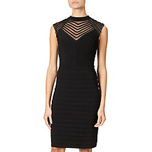 Buy Adrianna Papell Banded And Soutache Sheath Dress, Black Online at johnlewis.com