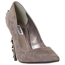 Buy Dune Boston Ivy Embellished Stiletto Court Shoes, Grey Suede Online at johnlewis.com