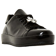 Buy Dune Black Eaves Jewelled Lace Up Trainers Online at johnlewis.com
