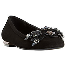 Buy Dune Havannah Embellished Pumps, Black Suede Online at johnlewis.com