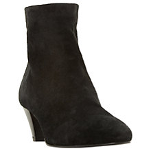 Buy Dune Black Olyve Kitten Heeled Ankle Boots, Black Suede Online at johnlewis.com