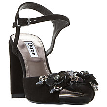 Buy Dune Moana Embellished Block Heeled Sandals, Black Suede Online at johnlewis.com