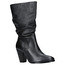 Buy Carvela Packham Block Heeled Calf Boots, Black Leather Online at johnlewis.com