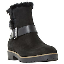 Buy Dune Persia Buckle Ankle Boots, Black Nubuck Online at johnlewis.com