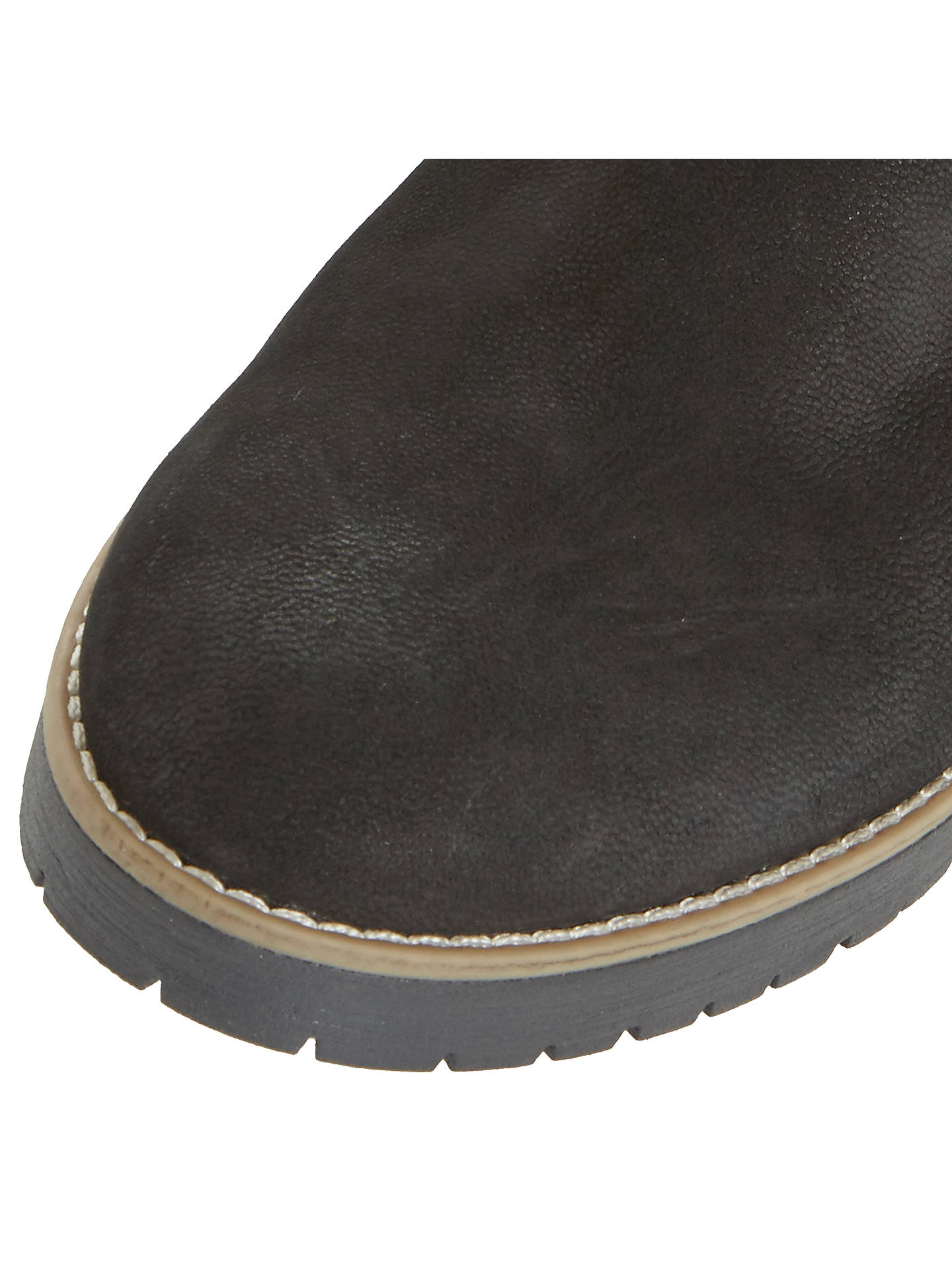 BuyDune Persia Buckle Ankle Boots, Black Nubuck, 3 Online at johnlewis.com