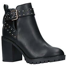 Buy Miss KG Taffy Buckle Block Heeled Ankle Boots, Black Online at johnlewis.com
