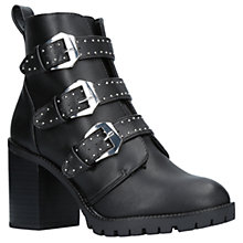 Buy Miss KG Saxon Buckle Block Heeled Ankle Boots, Black Online at johnlewis.com