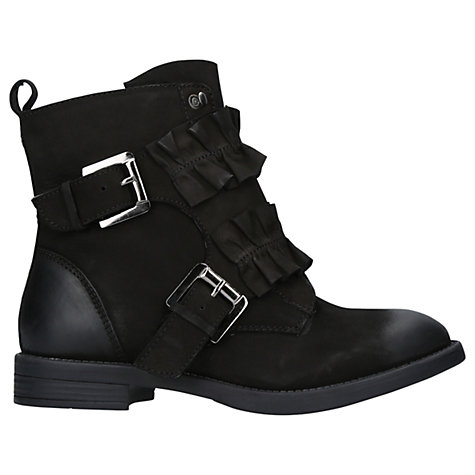 Buy Miss KG Spice Frill Ankle Boots, Black Leather Online at johnlewis.com