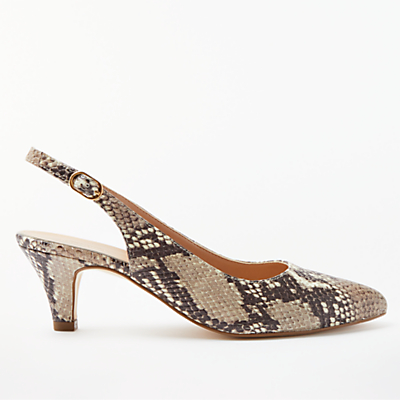 Product photo of John lewis grace kitten heel court shoes snake leather