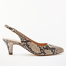 Buy John Lewis Grace Kitten Heel Court Shoes, Snake Leather Online at johnlewis.com