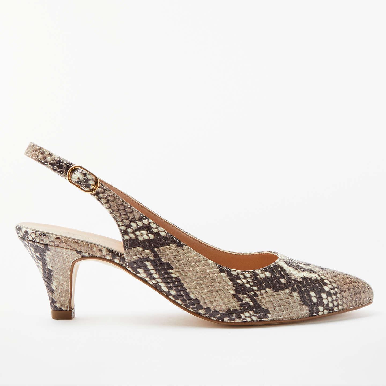John Lewis Grace Kitten Heel Court Shoes Snake Leather At