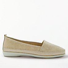 Buy John Lewis Designed for Comfort Wren Slip On Loafers, Gold Leather Online at johnlewis.com