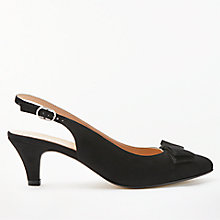 Buy John Lewis Graciela Kitten Heel Court Shoes, Black Suede Online at johnlewis.com