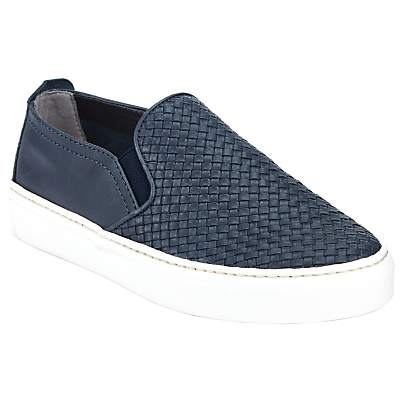 John Lewis Designed for Comfort Eve Slip On Trainers, Navy Leather