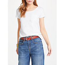 Buy AND/OR Cotton Slub Pocket T-Shirt, White Online at johnlewis.com