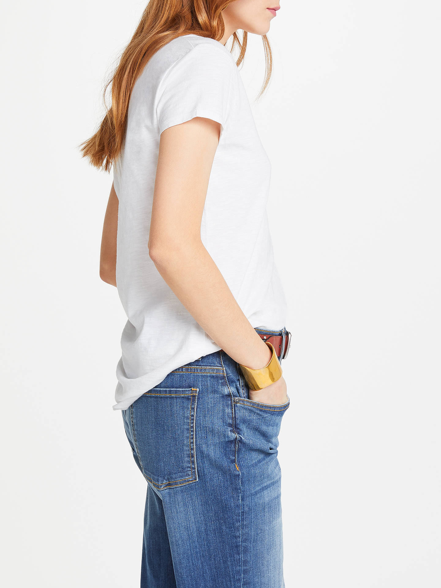 Buy AND/OR Cotton Slub Pocket T-Shirt, White, 8 Online at johnlewis.com