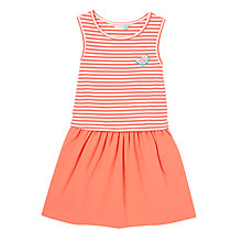 Buy John Lewis Girls' Stripe Jersey Dress, Red Online at johnlewis.com