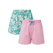 Buy John Lewis Girls' Jersey Shorts, Pack of 2 Online at johnlewis.com
