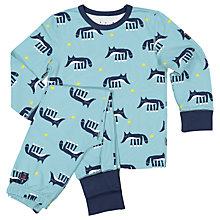 Buy Polarn O. Pyret Children's Fox Print Pyjamas, Blue Online at johnlewis.com