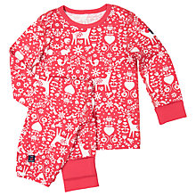 Buy Polarn O. Pyret Children's Nordic Pyjamas, Red Online at johnlewis.com