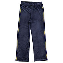 Buy Polarn O. Pyret Children's Velour Trousers, Blue Online at johnlewis.com
